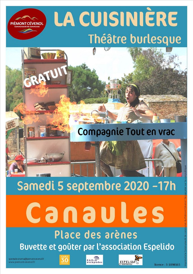 affiche spectacle cuisiniere canaules